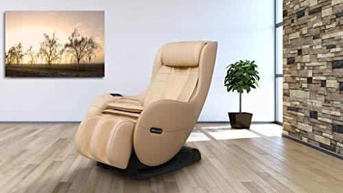 WELCON Massagesessel EASYRELAXX BEIGE mit Wärmefunktion - Massagestuhl mit Neigungsverstellung elektrisch, Automatikprogramme Knetmassage Klopfmassage Rollenmassage Airbagmassage Sessel Massagestuhl
