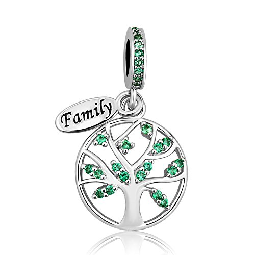 LovelyJewelry New Family Tree of Life Dangle Charm Bead for Bracelet Pendant (Family Tree)