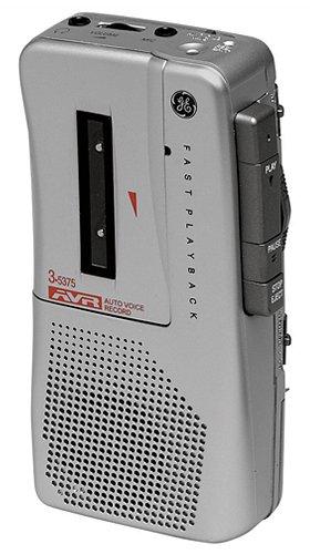 GE 35375 Handheld Micro Cassette Voice Recorder
