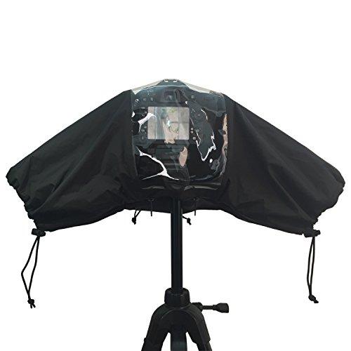 カメラレインカバー 一眼レフ キャノン 防水 レインカバー canon eos EOS-1DX EOS6D D4 D90 キャノン5D3等 雨の日撮影用品 防風防塵 防水防寒 一眼レフ対応 プロフェッショナル ブラック WOLFTEETH