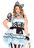 Leg Avenue Plus Size Women's Psychedelic Alice in Wonderland Costume, Blue/black, 3X/ 4X