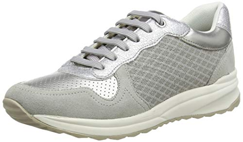 Geox D AIRELL A, Zapatillas para Mujer, Gris (Lt Grey C1010), 40 EU