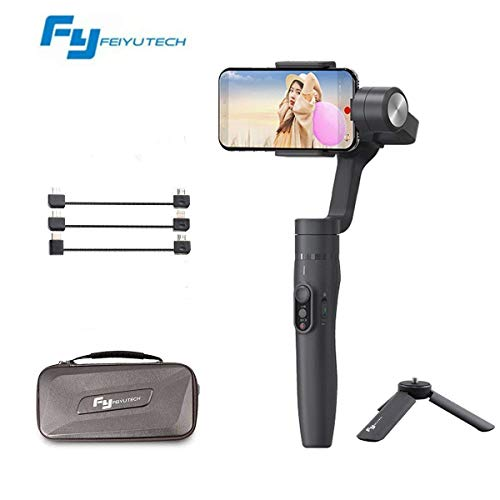 Feiyu Vimble 2 Extensible 3-Axis iPhone Gimbal Stabilizer Compatible for Smartphone and Gopro Hero 5/4/3+/3 with Object Tracking, Panarama Shooting, Dynamic Time-Lapse
