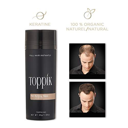 Toppik Hair Building Fibers, Light Brown, 1.94 oz
