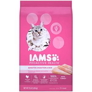 Iams Proactive Health Sensitive Stomach Adult Cat Food, Chicken & Turkey
