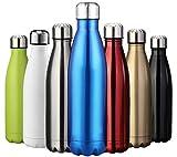 ZUSREIS Bouteille d'eau Isotherme Mug Réutilisable en Acier Inoxydable...