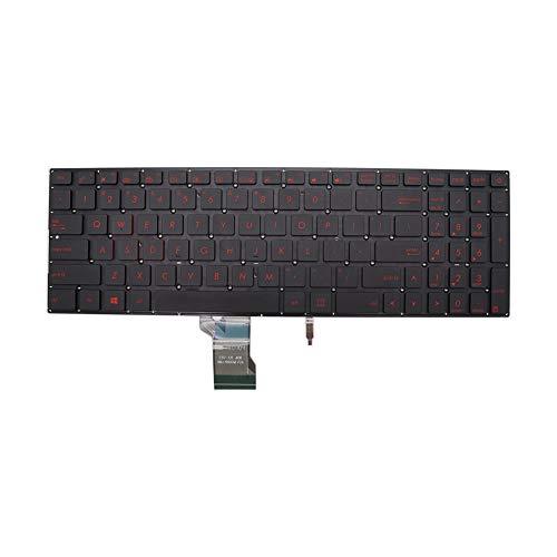New Keyboard for ASUS ROG Strix GL702 GL702VT GL702VS GL702VM with Backlit no Frame Red