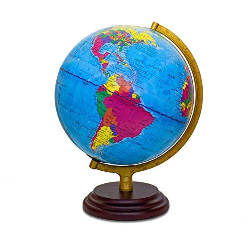 Magellan Cimbria Globe Lumineux avec Carte Politique et éclairage LED...
