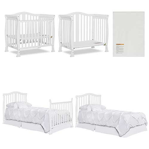 Product Image 11: Dream On Me Addison 4-in-1 Convertible Mini Crib in White, Greenguard Gold Certified
