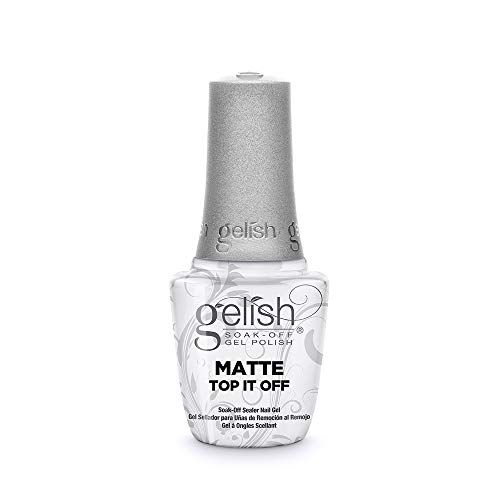 Gelish Matte Top It Off Sealer Gel Top Coat LED Gel Polish, 0.5 oz.