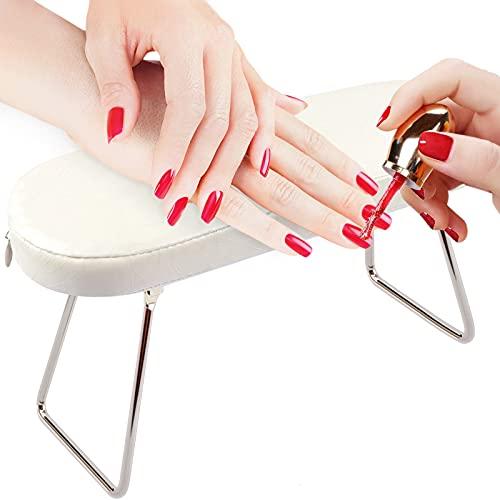 Cuscino per braccioli per unghie, EBANKU Manicure Cuscino per mani per unghie con staffa Cuscino per braccioli in pelle...