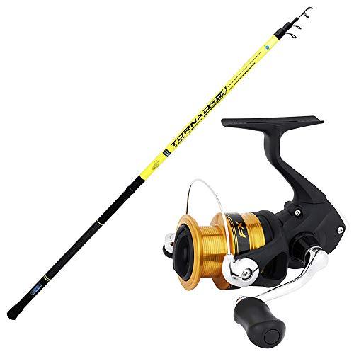 agc Kit Bolognese Canna Globe Fishing Tornado 4m + Mulinello Shimano FX 2500