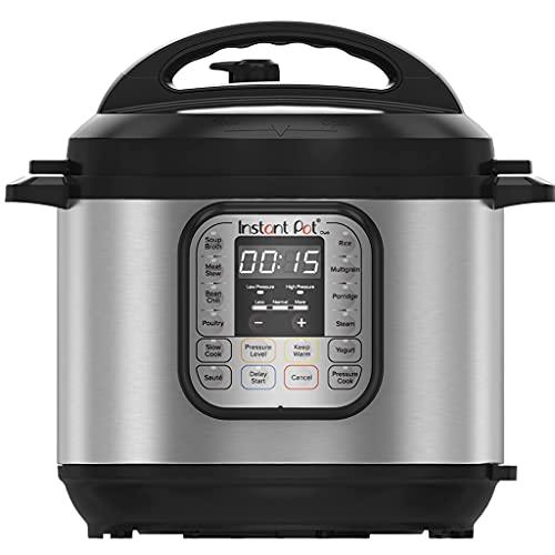 Instant Pot Duo 7-in-1 Electric Pressure Cooker, Slow Cooker, Rice Cooker, Steamer, Sauté, Yogurt Maker, Warmer & Sterilizer, 8 Quart, Stainless Steel/Black