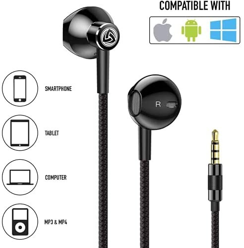 Earbuds-Earphones-Headphones-in-Ear, LUDOS SPECTA Wired Earbuds, Universal Microphone for Clear Calls, Strong Bass, Sound-Dynamic, Earphones for iPhone, Xiaomi, Samsung, Huawei, Computer 14