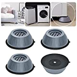 Dadop 4Pcs Anti Vibration Pads for Washing Machine and Dryer Shock and Noise Cancelling Washing Machine Support Prevent Moving Shaking Walking Universal Size