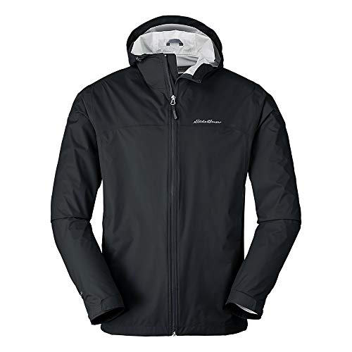 Eddie Bauer Men's Cloud Cap Rain Jacket Tall, Black Tall L