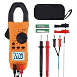 VinTeam Clamp Meter Amp Meter Digital TRMS Multimeter 6000 Counts 600A with Auto-ranging DC/AC Current AC/DC Voltage NCV Continuity Capacitance Resistance Frequency Diode Hz Test