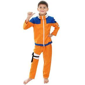 ZWwei Niños Calssic Animado de Cosplay Disfraces Cosplay Naruto Uzumaki Naruto Juveniles (Color : Size 110)
