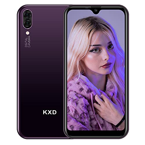 Telephone Pas Cher Android KXD A1 Telephone Portable Debloqué Pas Cher 16Go ROM avec Fente 3 en 1, Écran de 5,71 Pouces Dual SIM Smartphone, Violet