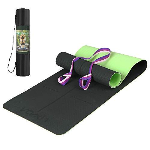 Lixada Tappetino da Yoga Antiscivolo Certificato TPE Tappetino Sportivo da Allenamento Leggero per...