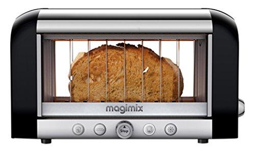 Magimix 11541 Toaster, Kunststoff, Schwarz, Metallisch