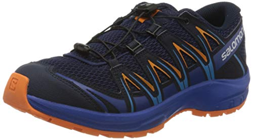 Salomon XA PRO 3D J, Scarpe da Trail Running Unisex Bambini, Blu/Arancione (Medieval Blue/Mazarine...
