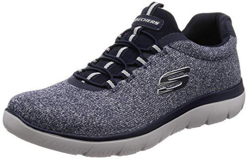 Skechers - Mocasines de tela para hombre, color Azul, talla 47.5 EU