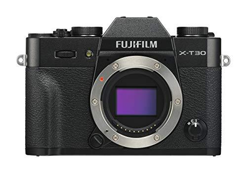 Fujifilm X-T30 Black Fotocamera Digitale a Ottiche Intercambiabili da 26MP, Sensore CMOS X-Trans 4 APS-C, Mirino EVF, Filmati 4K 30p, Schermo LCD Touch 3' Orientabile, Nero