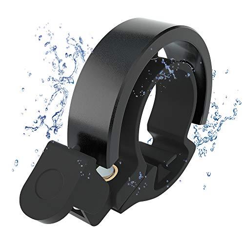 Meowtutu Fahrradklingel, Q Bell laut und hell Radfahren Fahrradglocke MTB Mountainbike Alarm Horn Ring Fahrrad Ring für 22.2-23mm Lenker (Schwarz, 1 Packung)