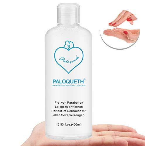 PALOQUETH Gleitgel auf Wasserbasis (400 ML), Premium Aqua Gleitmittel Sicher Langzeitwirkung Und Intimgel Sensitiv
