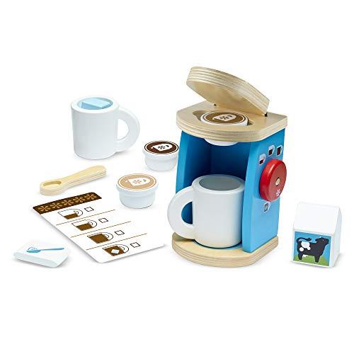 Melissa & Doug Set di giocattoli per giocare a preparare e servire caff in legno, accessori da...