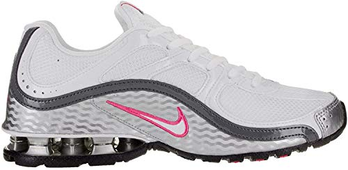 Nike Women's Reax Run 5 Running Shoes, White/Metallic Silver/Dark Grey, 10
