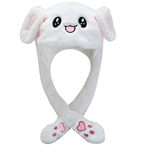 Xinlie Rabbit Ears Hat Giocattolo del Cappello dell'orecchio di Coniglio della Peluche delle Ragazze delle Ragazze Divertenti Regalo di Compleanno Premendo Il Bunny cap Farà Fare Le Orecchie