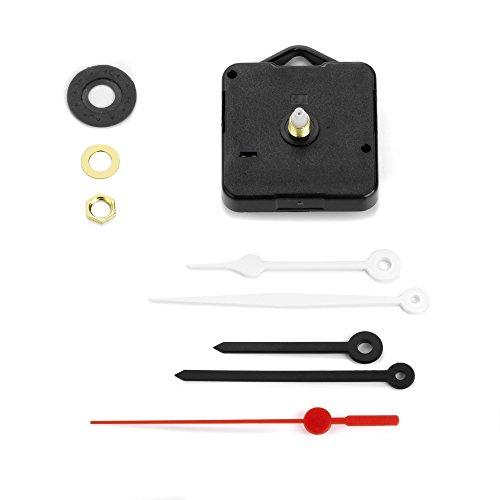Clock-it Meccanismo Orologio con Gancio plastica o Metallo, Silenzioso con Rotazione Continua, 2 Set Lancette, Canotto H 13mm / Filettatura 7mm. Azienda specializzata.