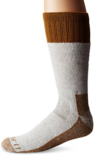 Carhartt Men's Extremes Cold Weather Boot Socks, Brown, Shoe: 6-12
