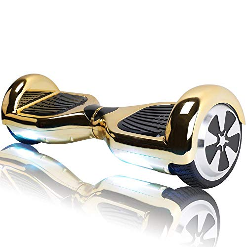 Hoverboard Bluetooth - Enfant Super Cadeau, 6.5' Overboard Tout Terrain Adulte Balance Board, Pas Cher LED Skateboard, Challenger Gyropode (Gold)