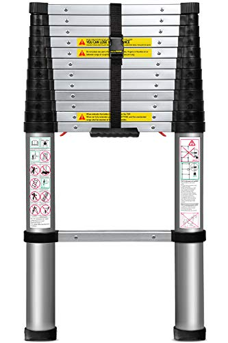 10. Telescoping Ladder 12.5 FT Extension Telescopic Ladders by OxGord