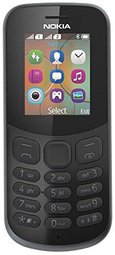 Nokia 130 Mobiltelefon (VGA Kamera, Bluetooth, extra lange Akkulaufzeit, Radio- und MP3 Player, Taschenlampe, Wecker, Dual Sim) schwarz, Version 2018