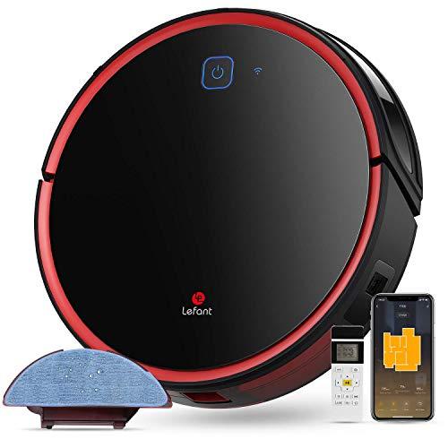Aspirateur Robot Laveur Lefant-T700 Connecté Wi-FI et Alexa, Aspiration Forte 2200Pa avec réservoir d'eau 300ml, 3 Modes de Nettoyage 120 Minutes d'Autonomie Auto Recharge pour Poils des Animaux