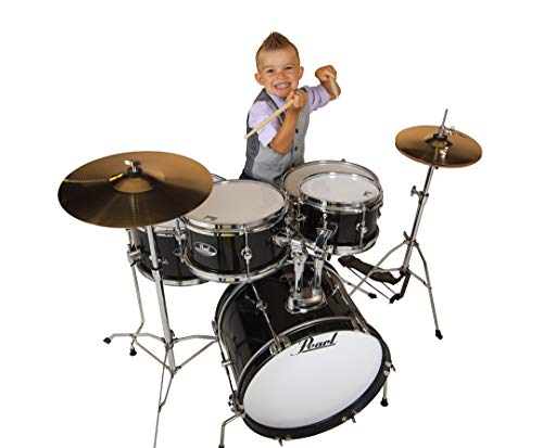 Pearl Roadshow Drum Set, Black, 16'/13'/10'/8'/12' (RSJ465CC31)