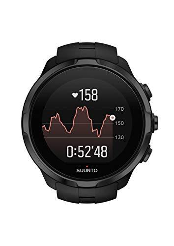 Suunto Spartan Sport Wrist HR - Reloj GPS Multideporte, sumergible hasta 100m, pulsómetro de muñeca, pantalla táctil de color, Negro, Talla única