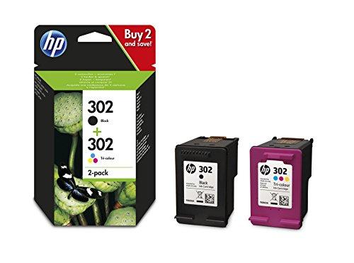 HP 302 | Multipack: zwart en driekleurig | Blijft 50 keer langer van goede kwaliteit dan niet-originele inkt