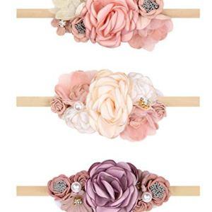 Oaoleer Baby Girl Floral Headbands, Newborn Infant Toddler Hair Accessories