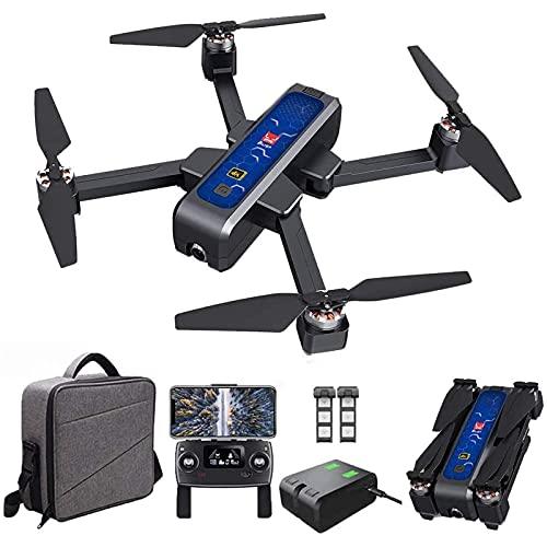 Drone Bugs Drone GPS 4W con videocamera HD 4K, Trasmissione WiFi 5G, quadricottero RC Pieghevole Senza spazzole con Posizionamento del Flusso Ottico, Ritorno Automatico, seguimi, con Borsa, 2 Bat