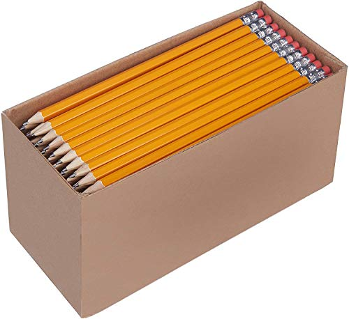 Amazon Basics Pre-sharpened Wood Cased #2 HB Pencils, 150...