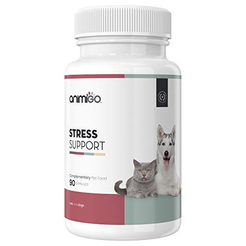 Animigo Suplemento Antiestrés para Gatos y Perros | Situaciones de...