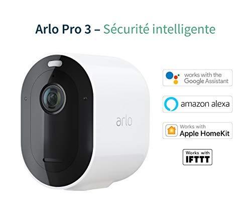 415pVTxHfeL [Bon plan Arlo !  Arlo Pro 3 | Pack de 2 caméras de surveillance 2K HDR, Batterie rechargeable Alarme Grand angle 160° avec Panneau S...