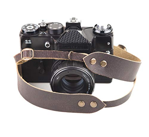 Leather Camera Strap DSLR Camera Straps Vintage Camera Belt for Canon Nikon Sony Leica Pentax