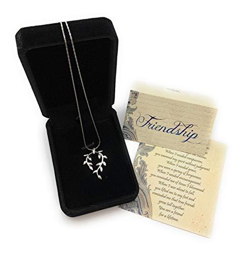 Smiling Wisdom - Vine Leaf Necklace Friendship Gift Set - A...