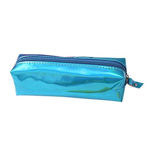 Bigboba Astuccio colorato per matite, con nappe trasparenti, utile per riporre la cancelleria per scuola, PVC, 2, 19*9*6CM